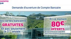 Code promo Boursorama Banque 80 euro offerts