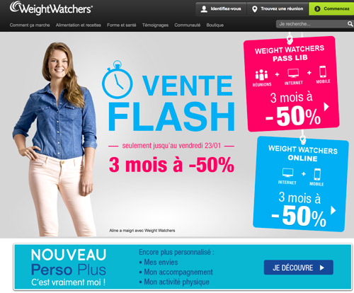 Code promo Weight Watchers reduction forfait